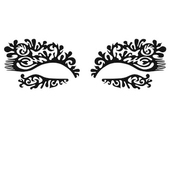 Face Lace Eye Lace Doodles - Featherette