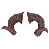 Tiga-D PU Foam Ram Horns - Brown
