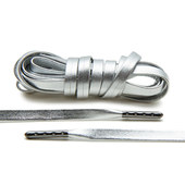 Lace Lab Leather Laces - Gun Metal Tips - 1 Pair