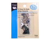 "Dritz Skirt Hooks and Eyes ½"" - Silver/Black - 12 sets"