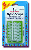 "Collins Nylon 5/16"" Iron Safe Snaps-18ct. (small)"