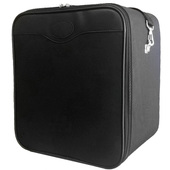 Square Zippered Wig Case - Black