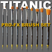 Titanic FX Full Pro-FX 10pc Brush Set