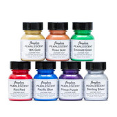 Angelus Pearlescent Acrylic Leather Paint Kit