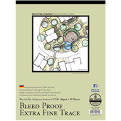 "Bee Paper Co. Bleed-Proof Extra Fine Trace Paper 9"" x 12"" - 50 Sheet Pad"