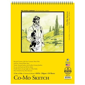 Bee Paper Co. Co-Mo Heavyweight Sketch Paper - 30 Sheet Pad