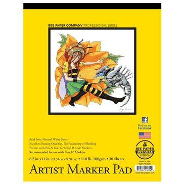 "Bee Paper Co.  Artist Marker Paper 8.5"" x 11"" - 30 Sheet Pad"