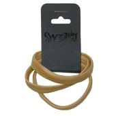Smoothies Wide Flat Metal-Free Hair Elastics - 3 ct