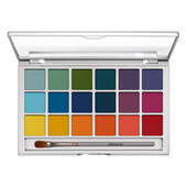 Kryolan Eye Shadow Variety 18 Color Palette - V2 (Bright)