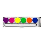 Kryolan Aquacolor UV-Dayglow Palette 6 Colors