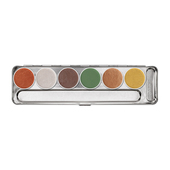 Kryolan Aquacolor Interferenz Palette 6 Colors - Earthly Glow