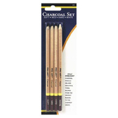 Pro Art Charcoal / White Drawing Pencil Set - 4 ct