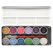 Ben Nye Magicake Aqua Color Palette - 12 Color Fantasy
