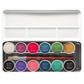 Ben Nye Magicake Aqua Color Palette - 12 Color Illusion
