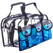 Monda Studio Set Bag - Clear/Blue