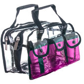 Monda Studio Set Bag - Clear/Pink