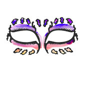 Face Lace Eye Lace - Leopardazzle