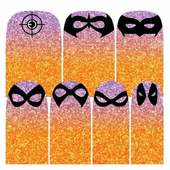 Espionage Cosmetics Nail Wraps - Orange & Pink