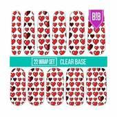 Espionage Cosmetics Nail Wraps - 8-Bit Hearts
