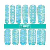 Espionage Cosmetics Nail Wraps - Scales Turquoise