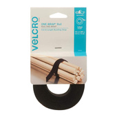 "VELCRO® Brand One-Wrap Two Sided Roll 3/4"" x 12"" - Black"
