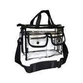 Monda Studio Small Clear Set Bag w/ 2 Snap Pockets - Black