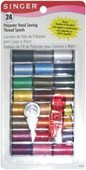 Singer 24-Assorted Mini 10 yd Spools of Polyester Thread