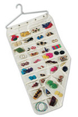 Household Essentials Hanging Jewelry Organizer - 80 Pocket