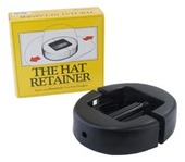 Hat Retainer - Black Oval Plastic