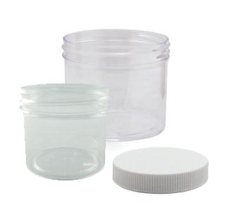 Clear Plastic Jars w/Lid