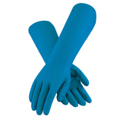 "18"" Industrial Nitrile Gloves - Blue"
