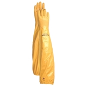 "26"" Extra Long Nitrile Dyeing Gloves - Yellow"