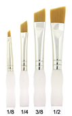 Royal Brush Soft-Grip Golden Taklon Angular Brush