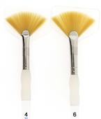 Royal Brush Soft-Grip Golden Taklon Fan Brush
