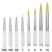 Royal Brush Soft-Grip Golden Taklon Round Brush