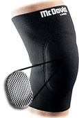 McDavid Neoprene Knee Pad w/Sorbothane Sock Absorb - (Sold individually)