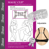 Braza Magic Clip Bra Clip-Clear