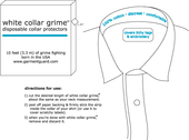 White Collar Grime Disposable Collar Protectors (10 ft.)