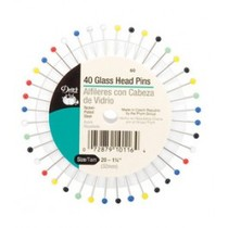"Dritz Glass Head Pins on Wheel (Size 20 - 1¼"" asst. - 40ct.)"