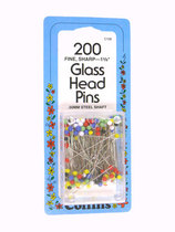 Collins Glass Head Pins - Multi Coloredbr - Size 23