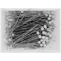 "IBC Glass Head Pins - (Size 23 - 1 3/8""  long - 250 ct.) - White"