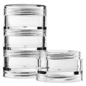 FantaSea Stacking Cosmetic Containers w/Tops
