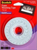 "Scotch Double-Sided Foam Mounting Tape ½"" x 150"""