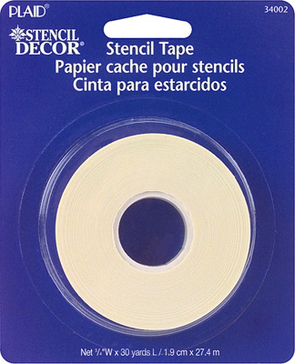 """Stencil Tape – ¾"""" Low Tack Edging Tape"""