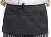 Black Cotton Dresser Apron
