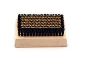 Lint & Nap Brush - Brass and Horsehair Combo