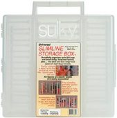 Sulky Slimline Thread Storage Box 15 x 15 x 3 - Holds 64 Lg. & Sm. Spools