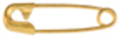 "#00-3/4"" Gold Safety Pin"