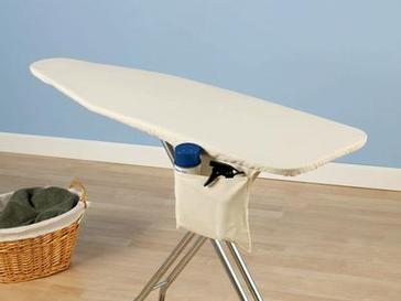 Household Essential Deluxe Natural Muslin Ironing Board Cover w/ Pad