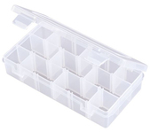 Flambeau Tuff Tainer 3 Compartment Box w/ Dividers and Detachable Lid